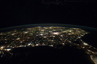 United States by night