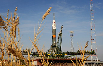 Soyuz TMA-13 on the launch pad