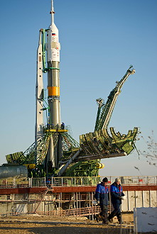 Soyuz TMA-22 on launch pad