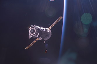 Departure of Soyuz TMA-5 from the ISS