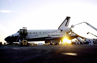 Image result for sts-109 landing