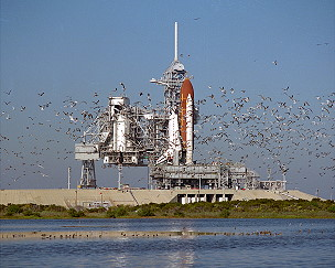 STS-27 on launch pad