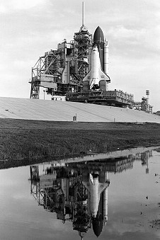 STS-30 on launch pad
