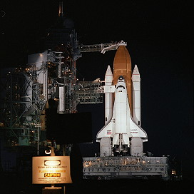 STS-41B on launch pad