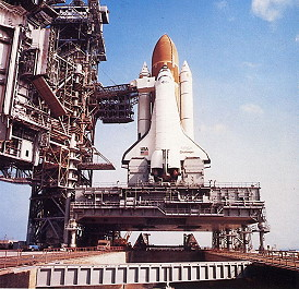 STS-41C on launch pad
