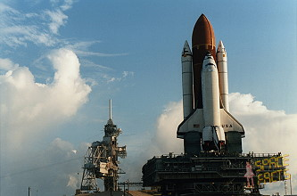 STS-58 rollout