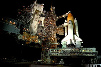 STS-90 on launch pad
