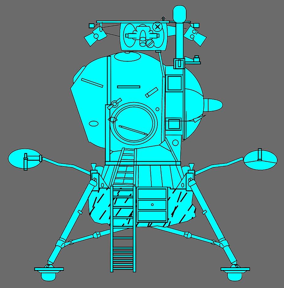 lunar landing module drawings - photo #17