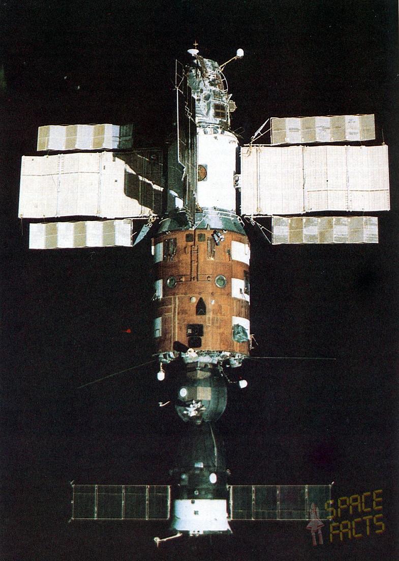 Salyut 7 with Soyuz T-14