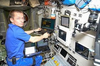 Ryzhikov onboard the ISS