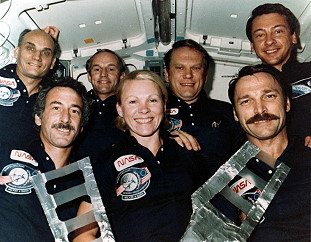 traditional in-flight photo STS-51D