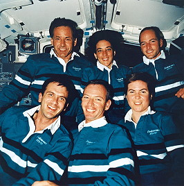 traditionelles Bordfoto STS-57