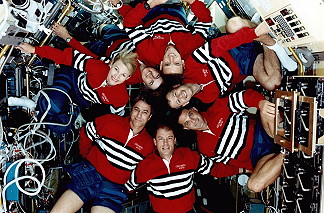 traditional in-flight photo STS-58