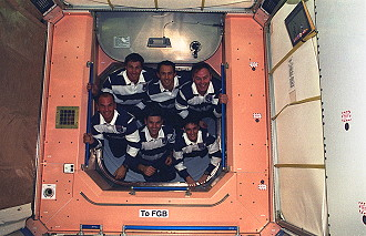 traditionelles Bordfoto STS-88