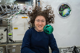 Christina Koch onboard ISS