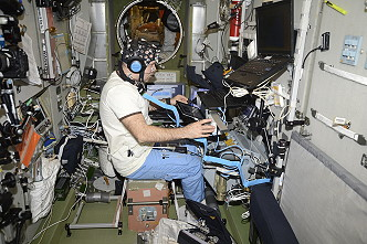 Ivan Vagner onboard the ISS