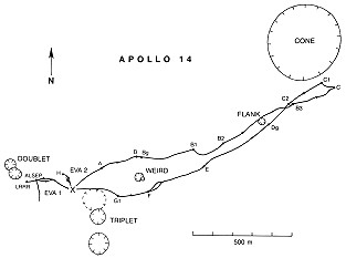 Apollo 14 Wegekarte