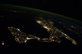 Italy at night