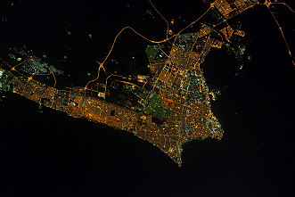 Kuwait by night