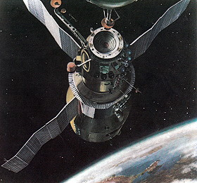 Soyuz 25 prior to docking (graphic)