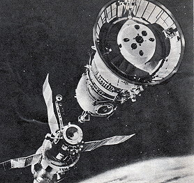 Soyuz 27 docking (graphic)