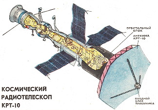 Salyut with KRT-10 antenna