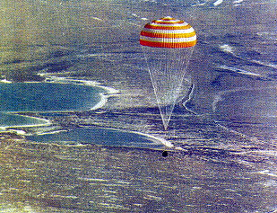 Landing of unmanned Soyuz 32