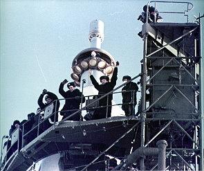 Soyuz 5 on the launch pad