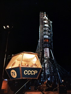 Soyuz 9 on the launch pad