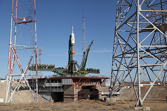 Soyuz MS-04 on the launch pad
