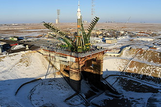 Soyuz MS-07 on the launch pad