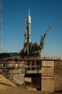 Soyuz TMA-11M on the launch pad