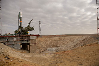 Soyuz TMA-12M on the launch pad