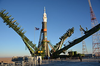 Soyuz TMA-15M on the launch pad