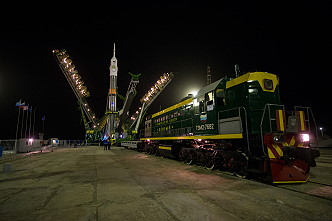 Soyuz TMA-20M on the launch pad