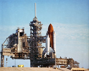 STS-28 on the launch pad