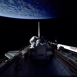 STS-37 im Orbit