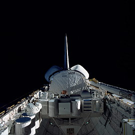 STS-41B im Orbit
