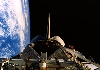 STS-41D in orbit