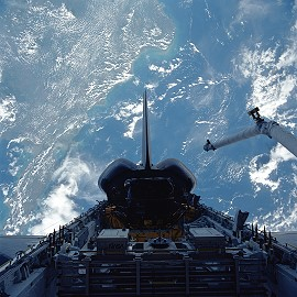 STS-49 im Orbit