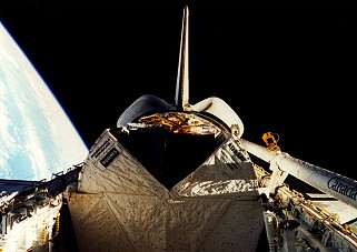 STS-51I im Orbit