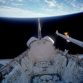 STS-51A in orbit