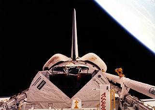 STS-61B in orbit