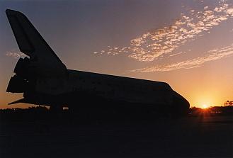Image result for sts-63 landing