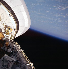 STS-6 in orbit