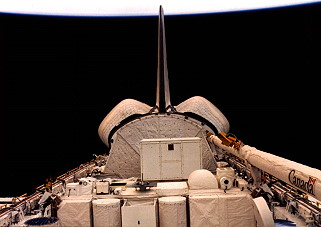STS-7 im Orbit