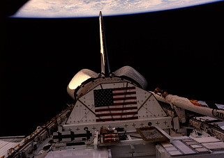 STS-8 im Orbit