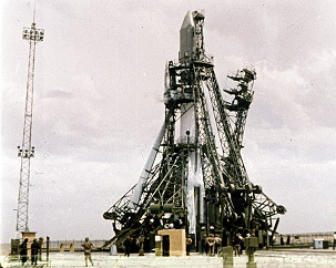 Vostok on the launch pad