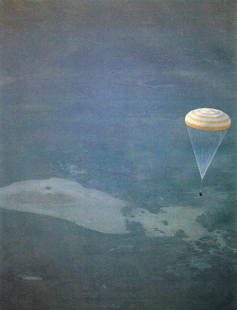 Image result for soyuz 40 landing
