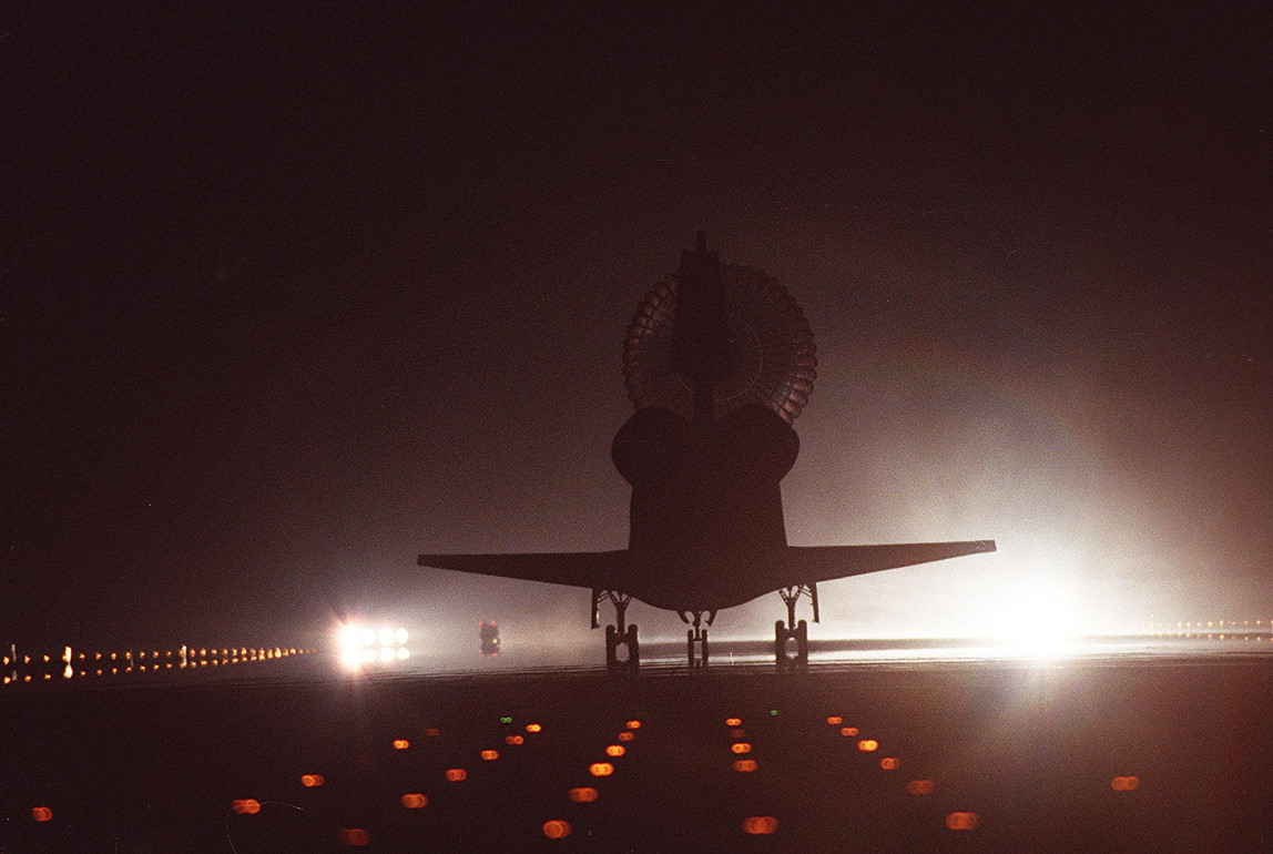 Image result for sts-102 landing